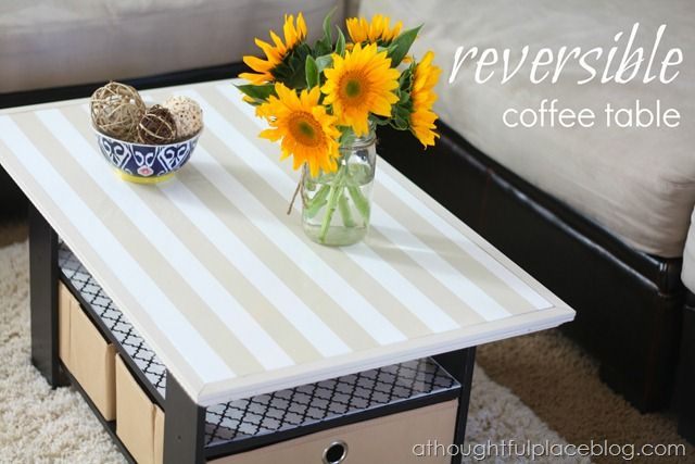 Reversible table reverses to show a game table from A Thoughtful Place