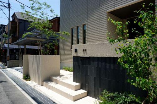 オープンエクステリア施工事例 / セミクローズ エクステリア、積水ハウス エクステリア 神戸、神戸、塗り壁、ガレージ