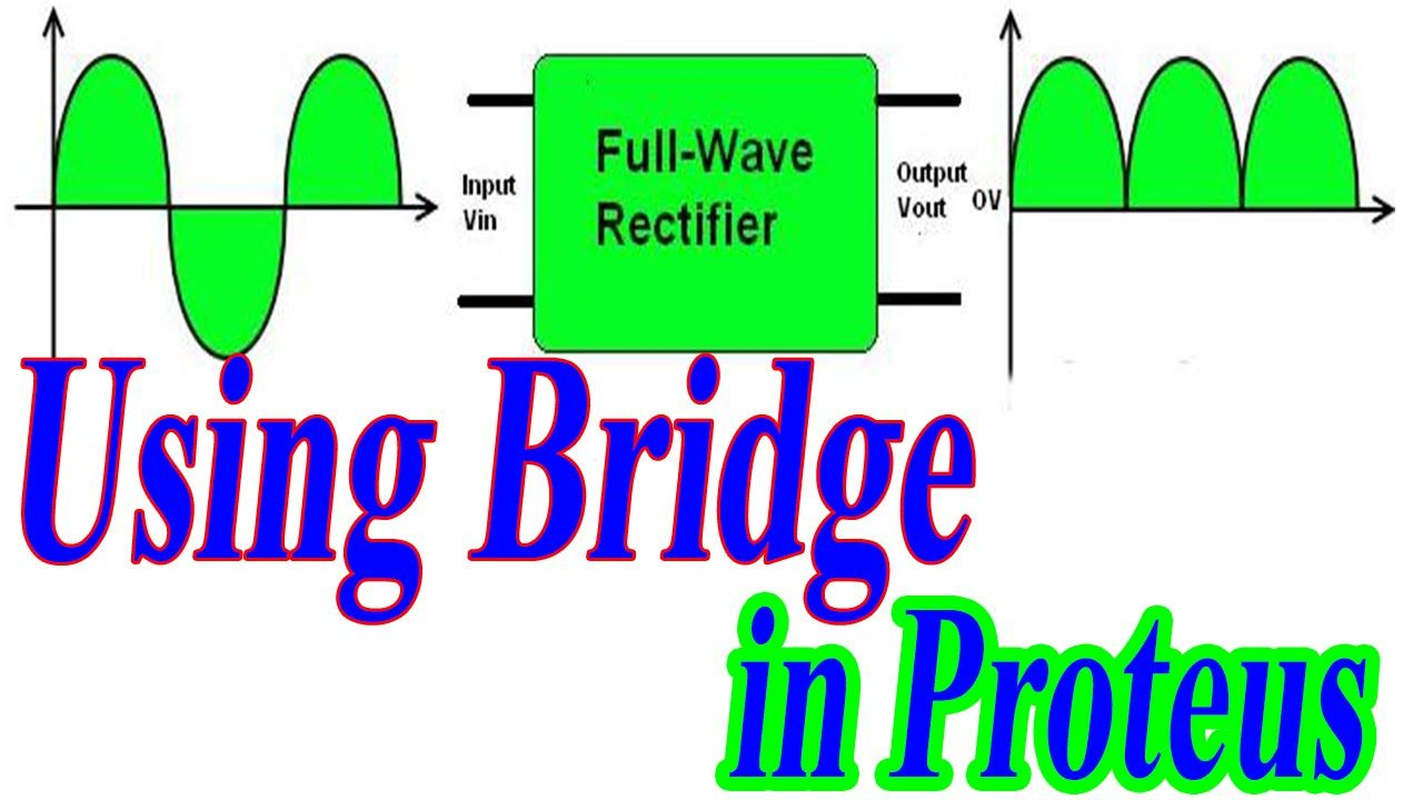4full Wave Rectifier Using Proteus Half Waves Full Diagram