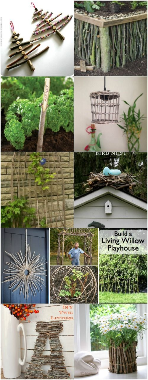 25 Cheap And Easy Diy Home And Garden Projects Using Sticks And Twigs Garden Ideas Cheap Easy Diy Garden Projects Cool Diy Projects