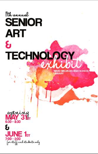 2011 senior art show poster design | Art show | Pinterest | Poster ...