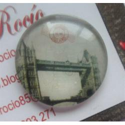 Cabujón de cristal circular 25 mm modelo 13