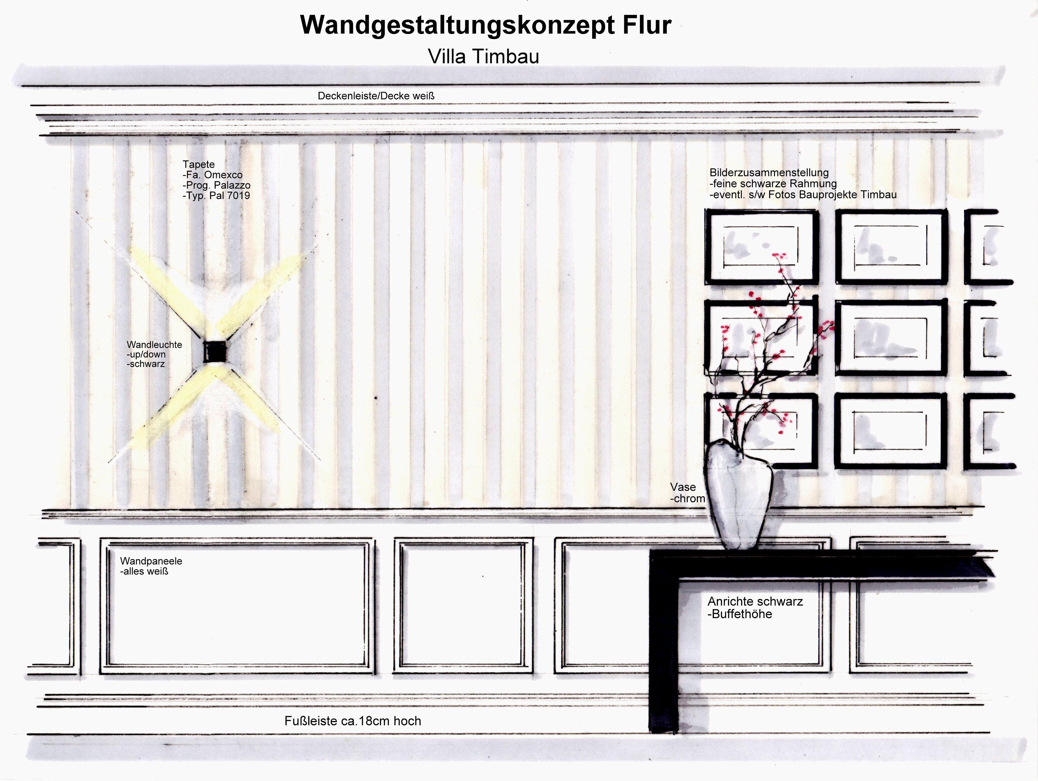 Entwurf Flurgestaltung Villa In Langen