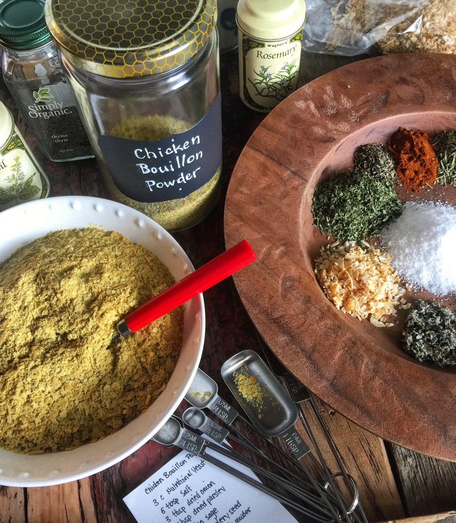 Faux chicken bouillon powder recipe seasoning recipes