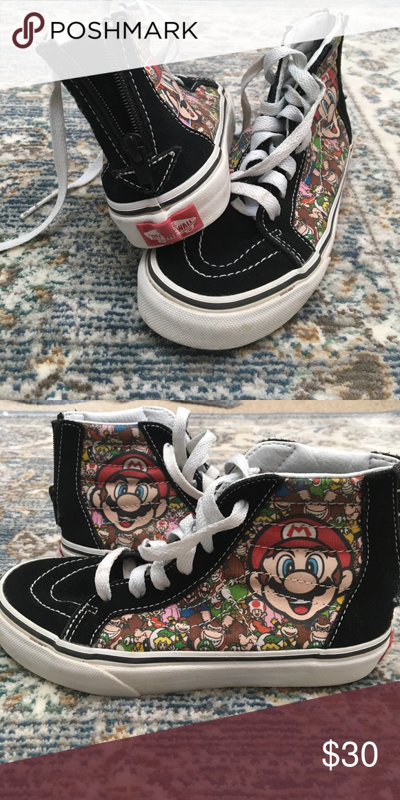 b7fd8aae93 Boys Vans size 1 Super Mario and friends Vans sneakers Vans Shoes Sneakers