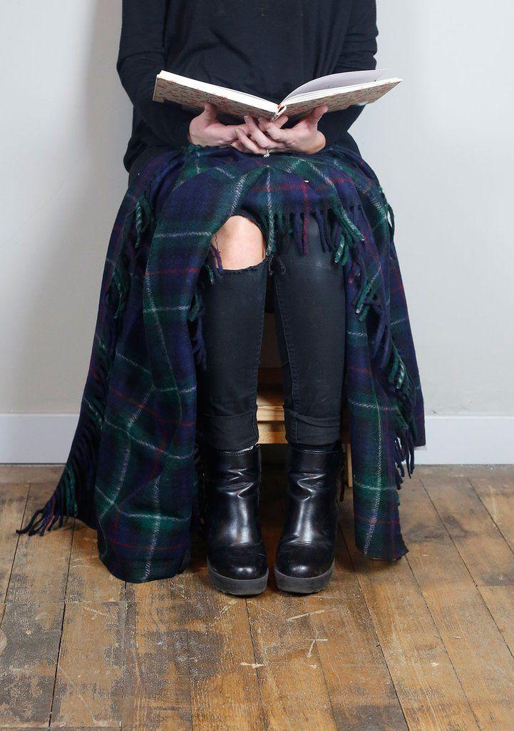 Recycled Wool Knee Blanket in Mackenzie Tartan