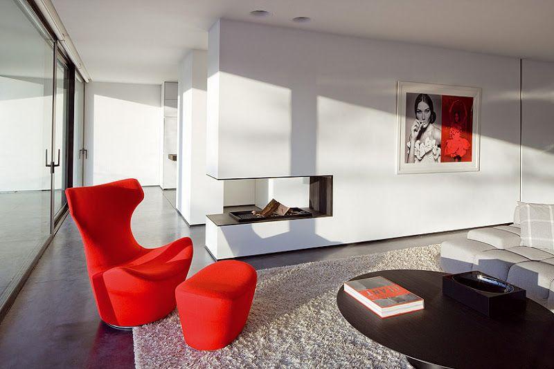 Elegante casa minimalista diseñada por Bruno Erpicum - Interiores