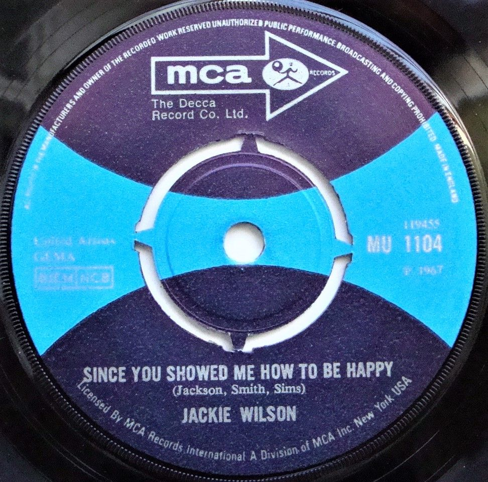 Jackie Wilson - Since You Showed Me How To Be Happy | Micks 45\'s ...
