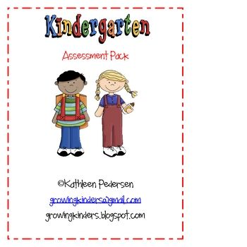 Kindergarten assessment pack to record your students progress throughout the school year.