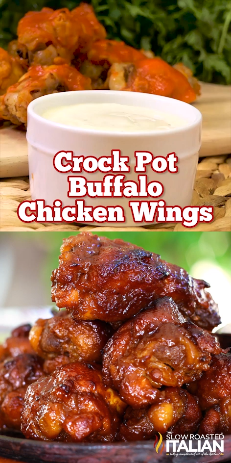 Photo of Simple Crock Pot Buffalo Chicken Wings