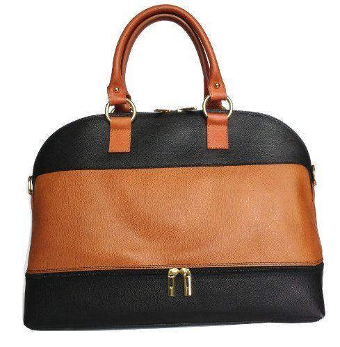 Black Brown Italian Leather Bowling Bag Handbag Or Shoulder Price 79 95