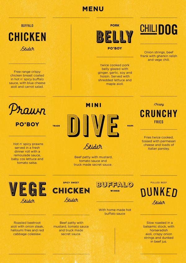 menu the roaming dive 2menu poster flyer pinterest menu