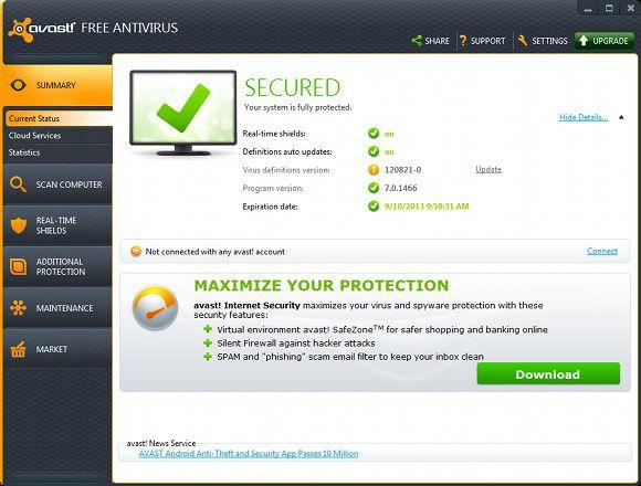 comparison of antivirus software