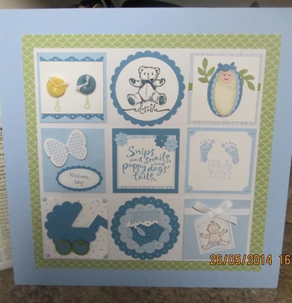 Baby Boy 12x12 Sampler | Stampin\' Up Samplers | Pinterest