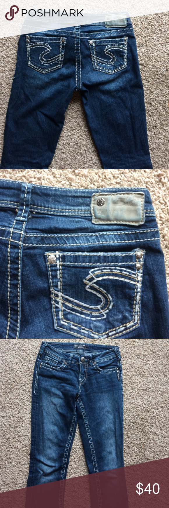 Silver Jeans Great condition jeans, boot cut but fit like straight ...