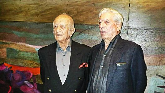 INFORME. En una de las últimas exposiciones del pintor De Szyszlo nos cruzamos con Mario Vargas Llosa. Imperdible.