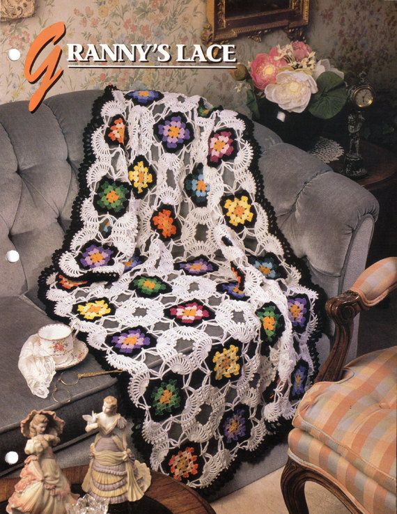 Grannys Lace Afghan and Tablecloth Crochet Pattern by Annies Attic ...
