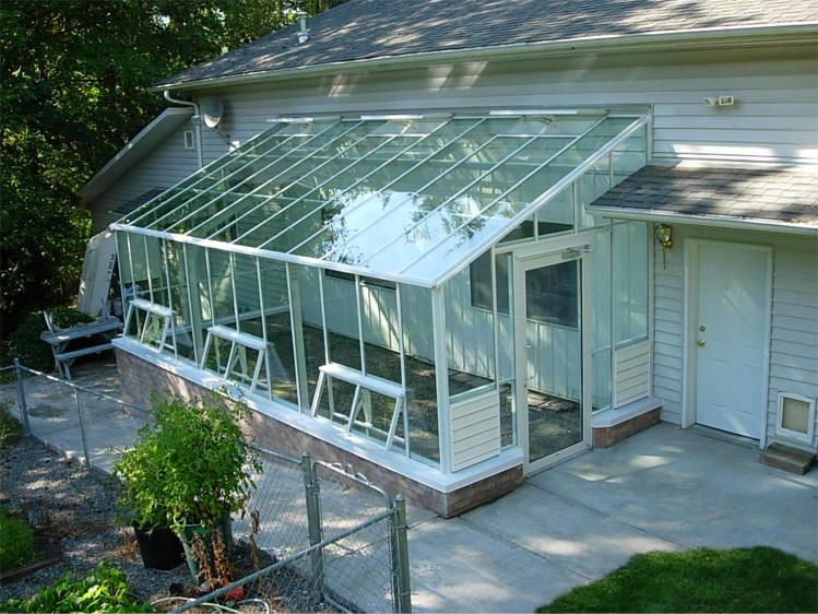 Traditional glass lean to greenhouse sale gothic arch for Green home building kits