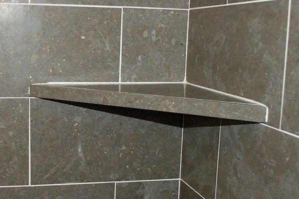 Shower Corner Shelf On Top Of Tile Course With Images Shower