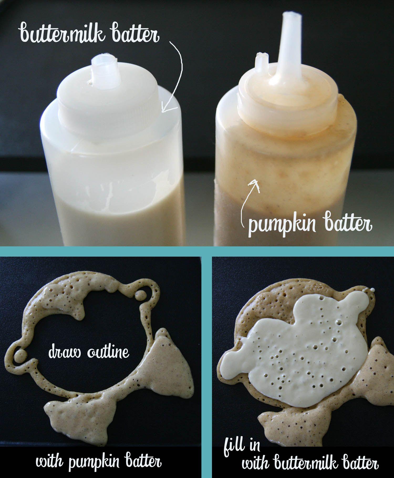 two tone Halloween pancakes | pancake of the week | Pinterest ...