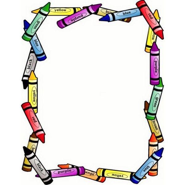 Kindergarten Clip Art: Free Printable Preschool Borders