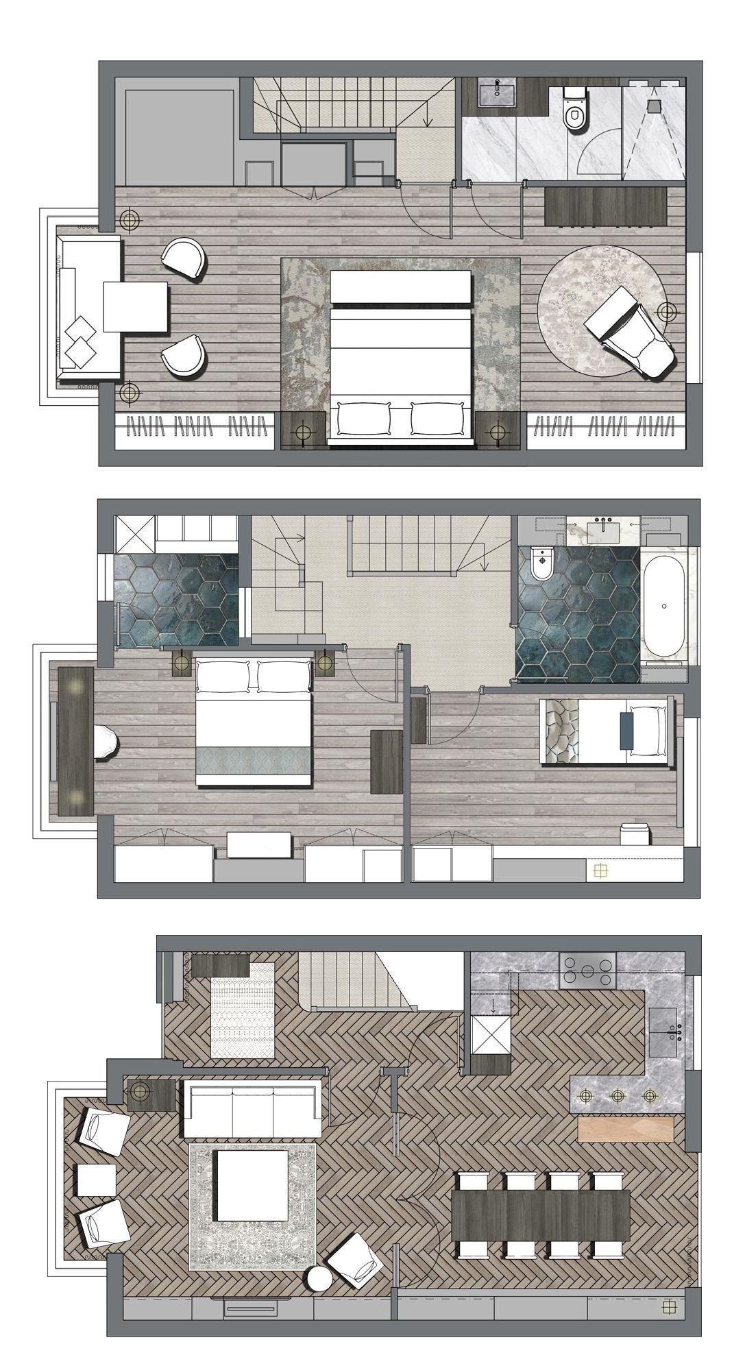 8 Planos De Casas Modernas Casa De Tres Pisos Disenos De Casas