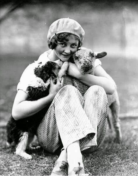 Girl-with-Lamb-and-Dog