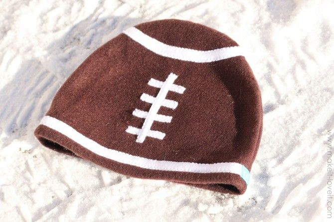 Fleece Football Hat | Hats | Pinterest