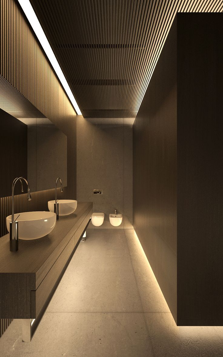 Modish Bathroom Lighting Ideas With Modern Concept: WH1HOUSE - Interior On Behance
