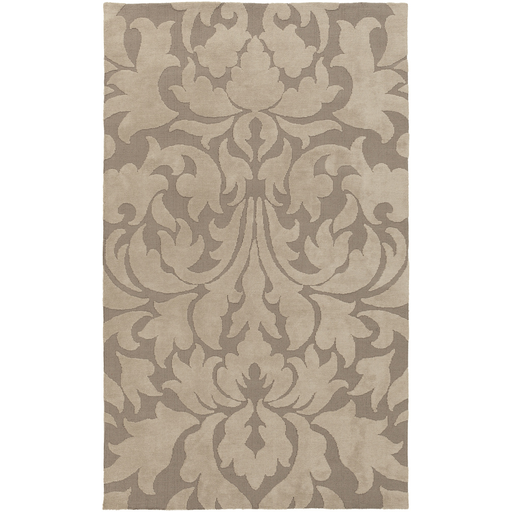 Carved Damask Rug: Super Soft Polyester Rug From The Abigail Collection By