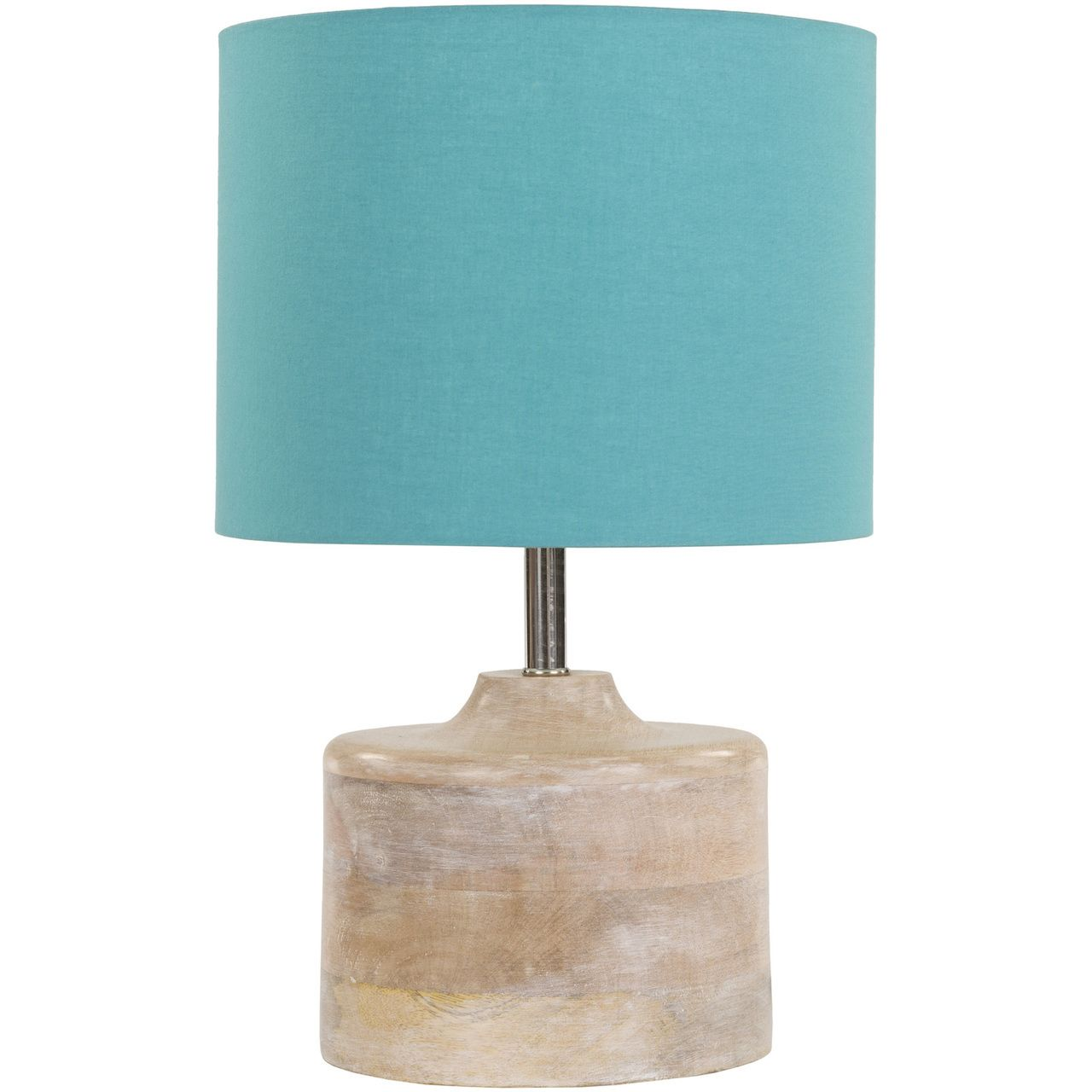 Coast mango wood table lamp blue shade wood table lamp bases art of knot burcham cottagecountry table lamp blue geotapseo Images