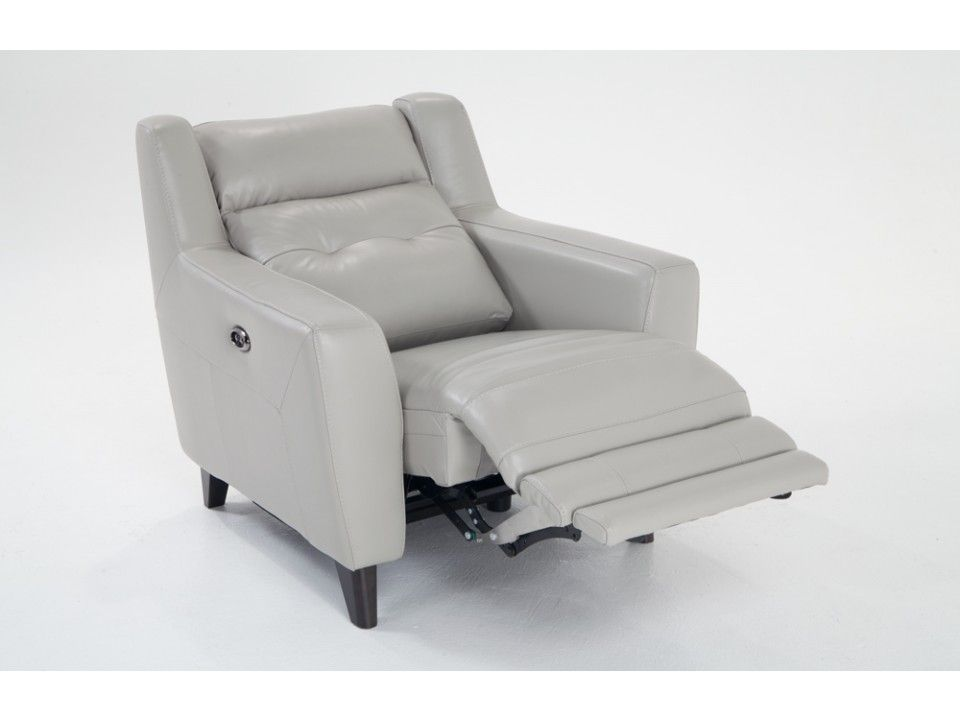 Stratus Leather Power Recliner Bobs Discount Furniture