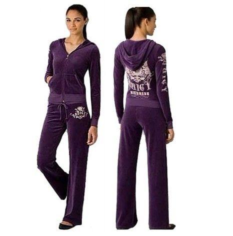 230bef165cf Juicy Couture Velour Scottie Tracksuits-Purple