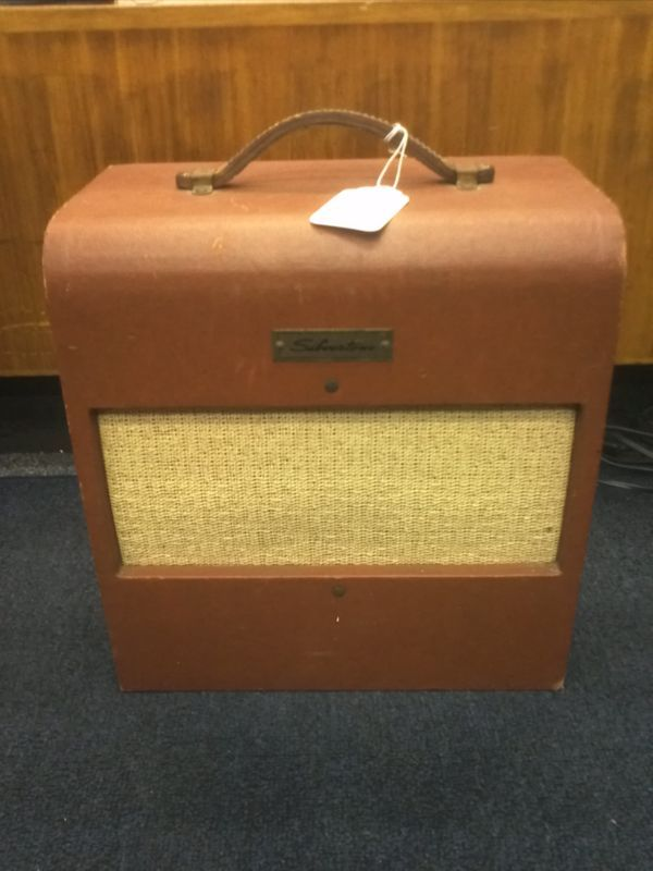 vintage silvertone amp head and cabinet