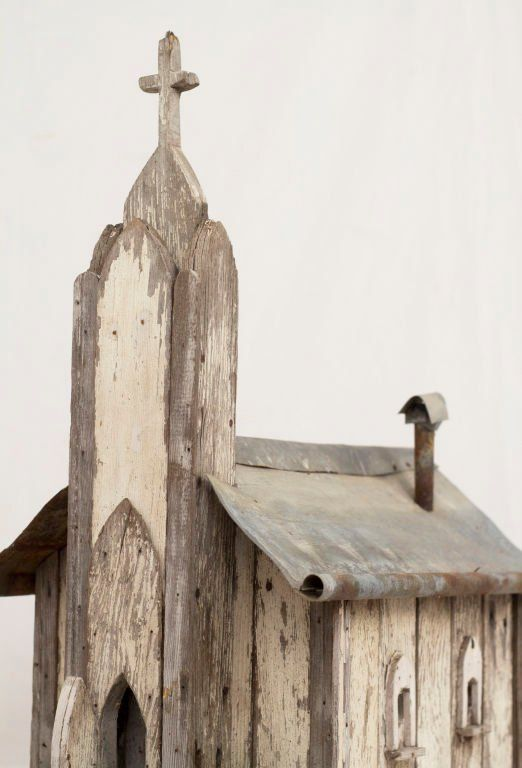 Best American Folk Art Church Birdhouse For Sale Bird Houses 400 x 300