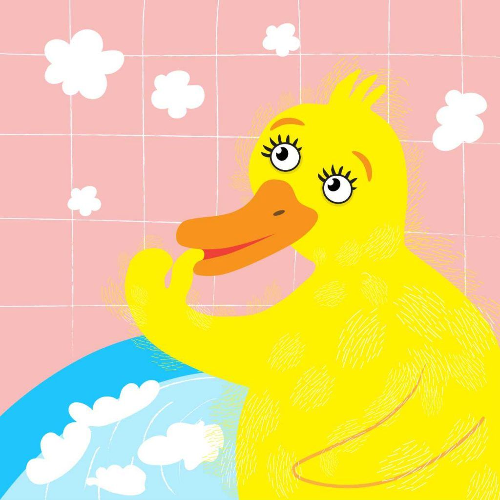 Fluffy Duck In The Tub