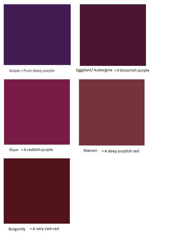 Aubergine Purple Vs Plum