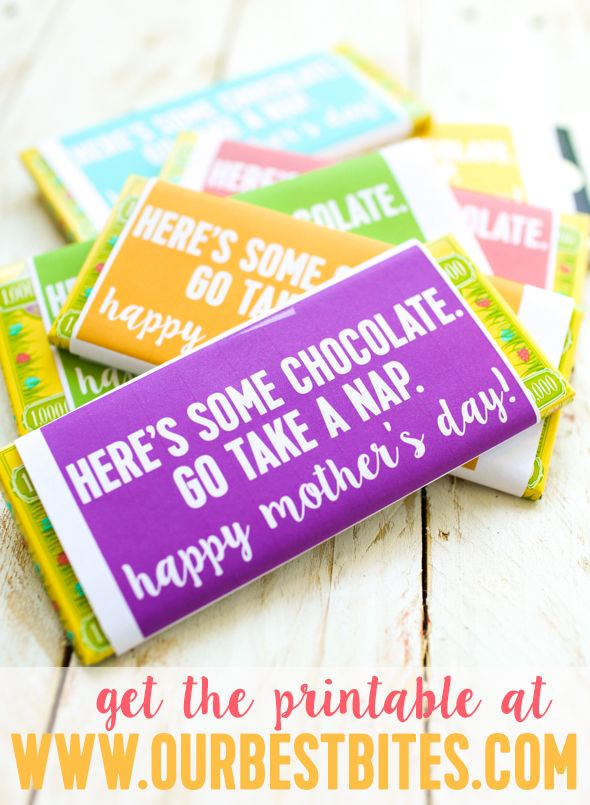 Mother S Day Chocolate Bar Printable Plus Teacher Reciation Our Best Bites