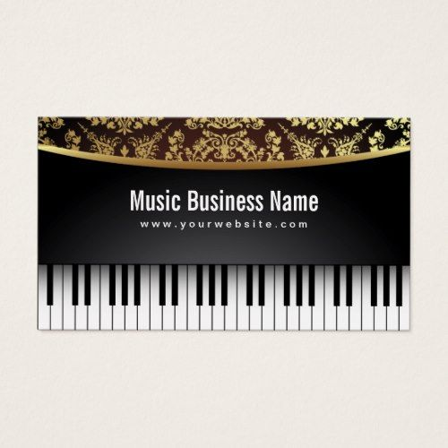 Cool Music Business Card For Guitar Teachers Zazzle Com Music Business Cards Music Design Music Business