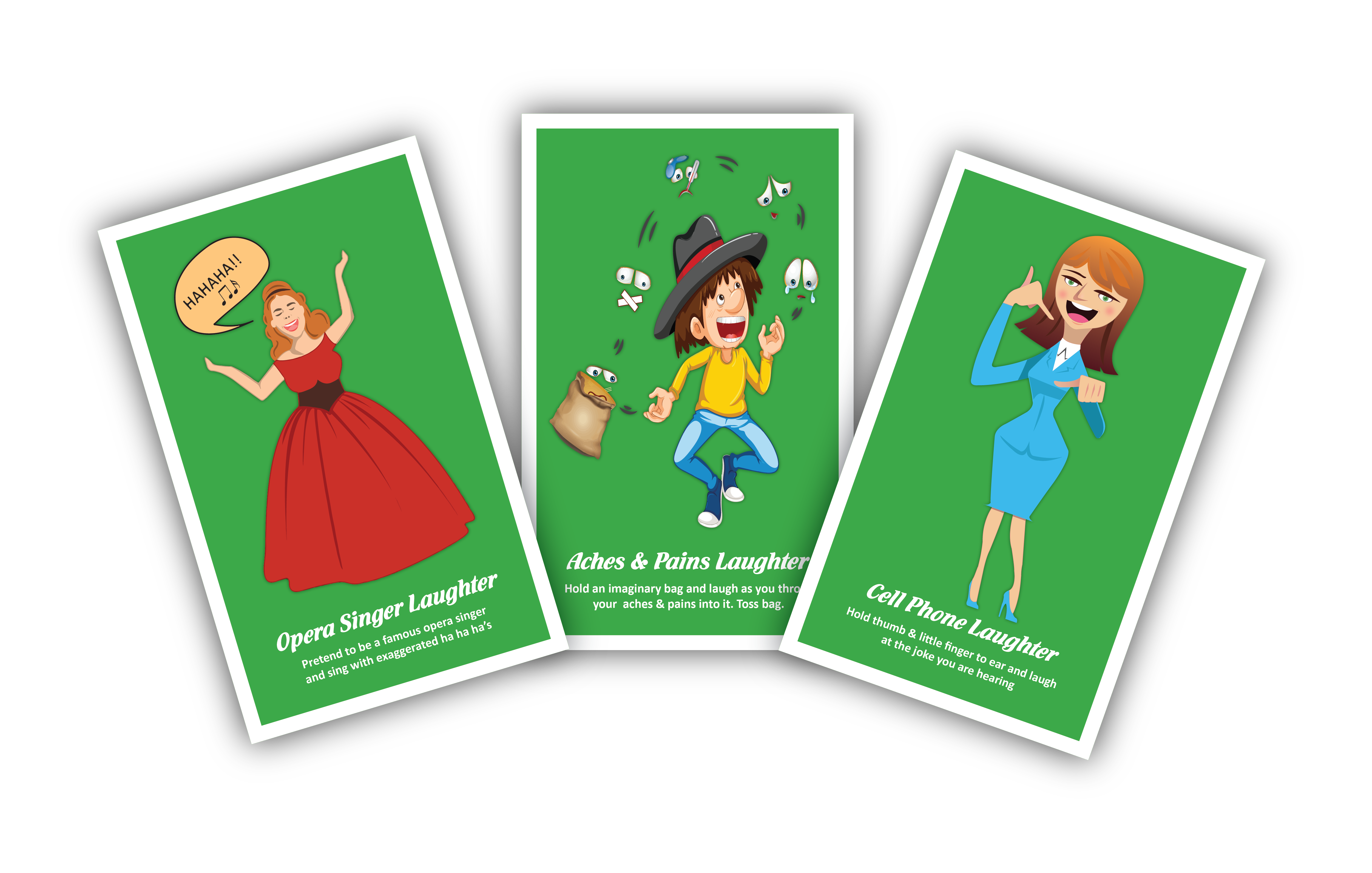 Exercise Cards From The Laughter Yoga Fun 40 Card Deck Add More Laughter To Your Life Also Or With Family And Friends La Laughter Yoga Card Workout Laughter