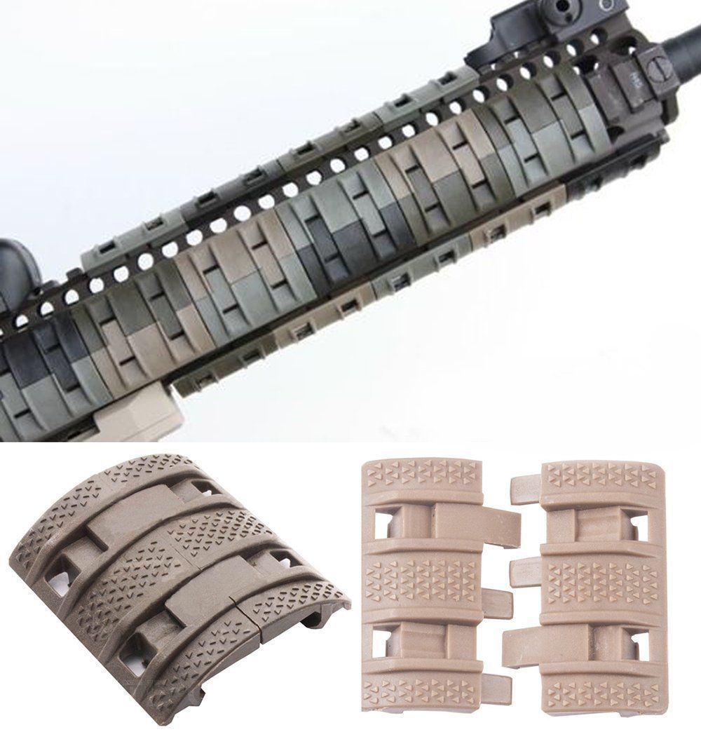 "4pcs Weaver Picatinny Mount 7/"" Ladder Rail Heat Resistant Ladder Cover Green New"
