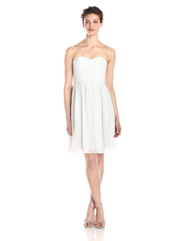 fc016249d9e8e Sarah Short Strapless Chiffon Dress by Donna Morgan | Dresses For ...
