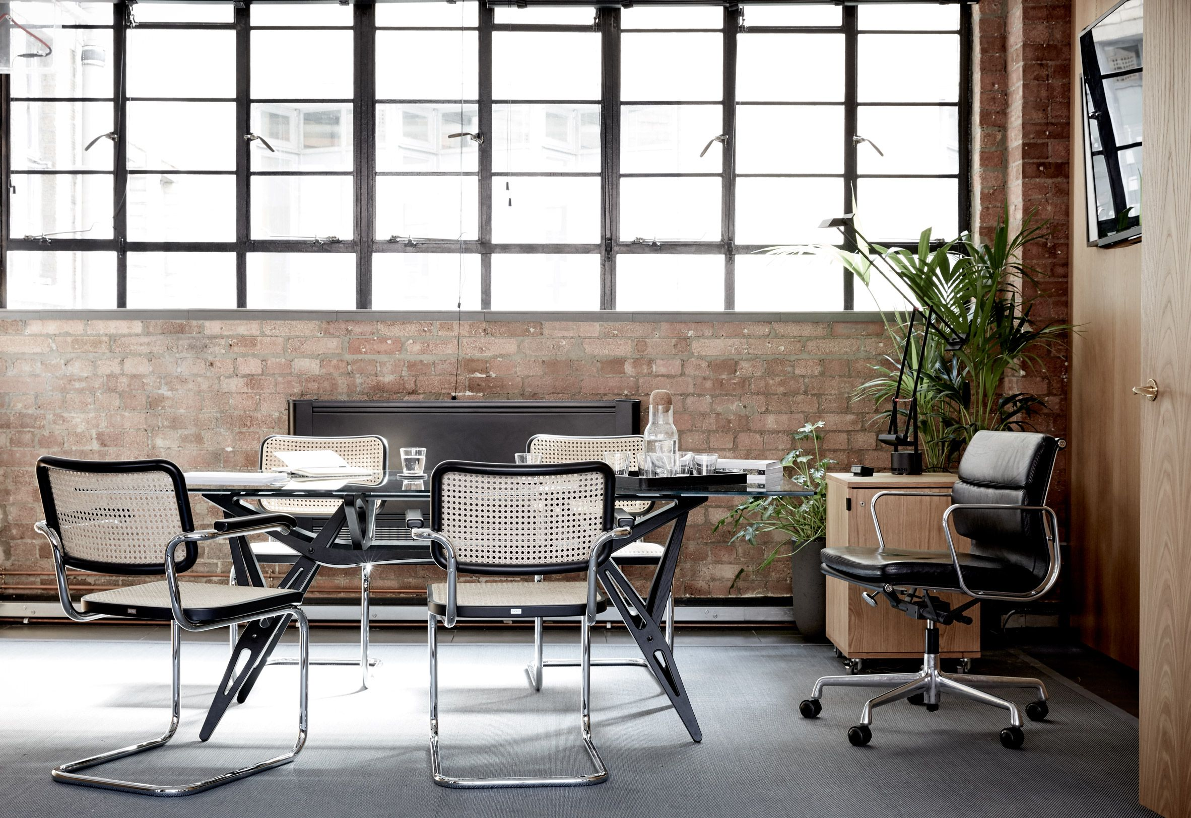 Four23 Studio S Self Designed Office Inside Former Metal Workshop Is Inspired By A Toolbox Industrial Style Office Office Interior Design Office Interiors