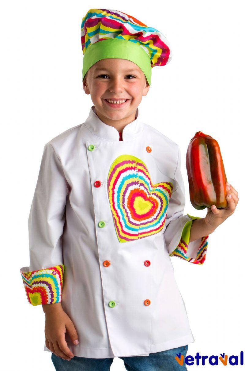 0f5a5e4e978 Chaqueta de cocina de niño Perfecto para invitar a cocinar a los más peques!