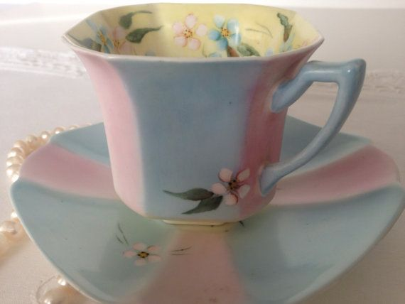 Hand Painted Shelley PRINCESS Shape (not Queen Anne--this one is square at the bottom) 1933-1940's