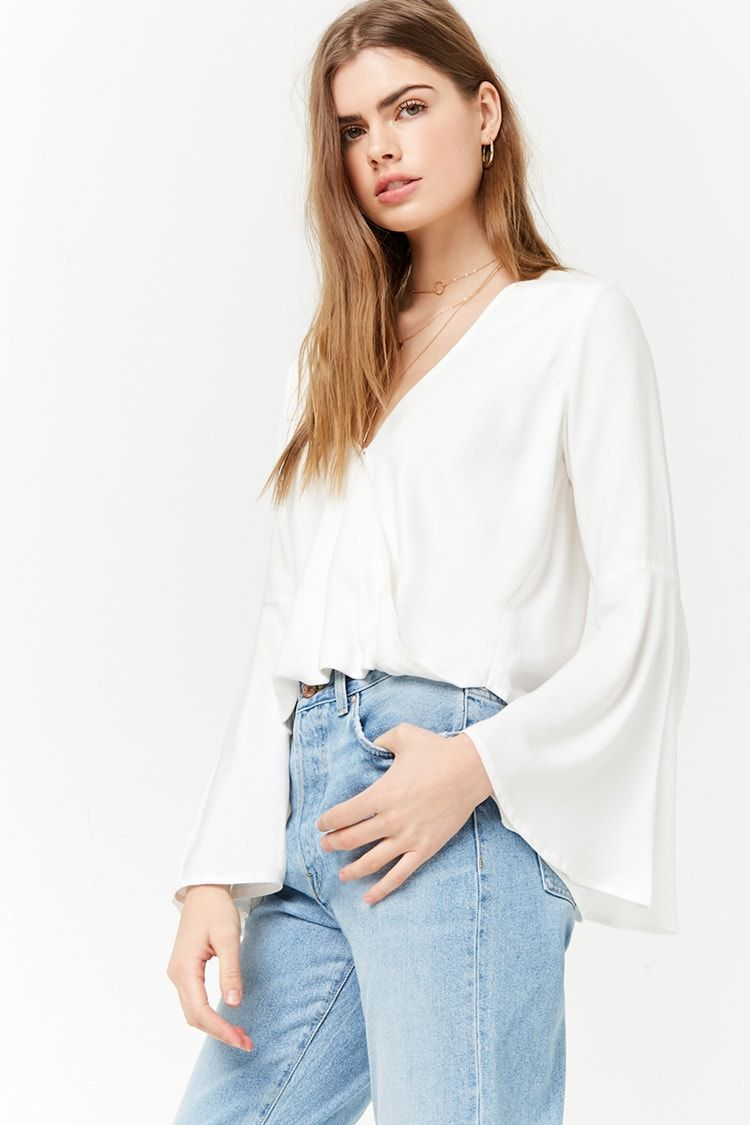 bb27d6c510c7 FOREVER 21 | Blusa manga acampanada | #New_In March 2018 | Mangas ...