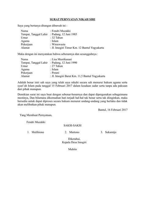 Contoh Surat Nikah Informasi Seputar Dunia Militer Dan