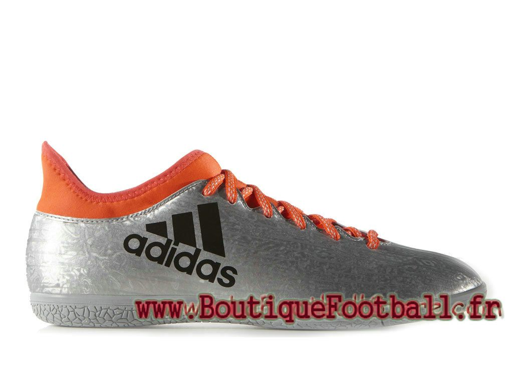 Adidas Homme Football Chaussues X 16.3 Indoor Silver Met