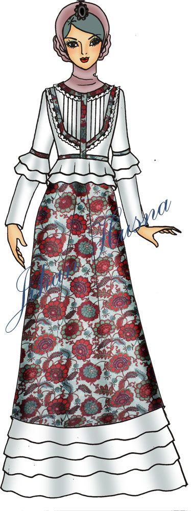 Desain Abaya Katun   Model baju wanita, Gaya hijab, dan ...