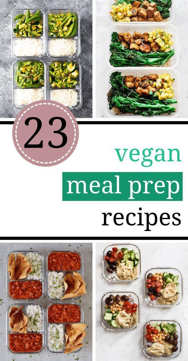 Einfache und schnelle vegane Essenszubereitung Rezepte, die Sie für die ganze Woche machen können. Sie ... - Rezepte & DIY #weeklymealprep